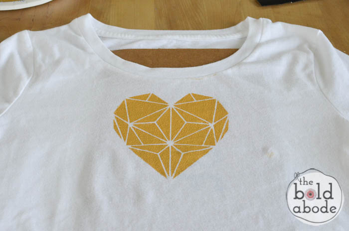 geometric heart t-shirt-7
