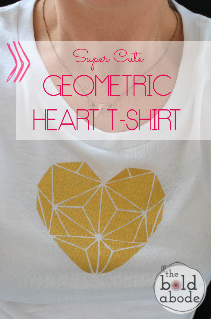 Super Cute Geometric Heart T-shirt