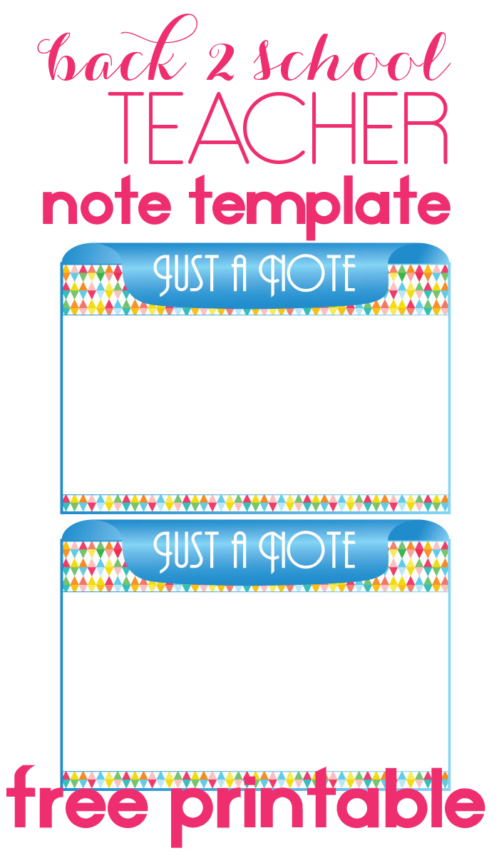 Super Cute Teacher Note Template For When You Have To Actaully Write A Note  To Your  Note Template