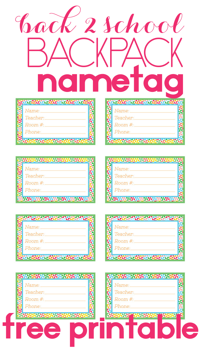 It's just a picture of Universal Name Tag Printable