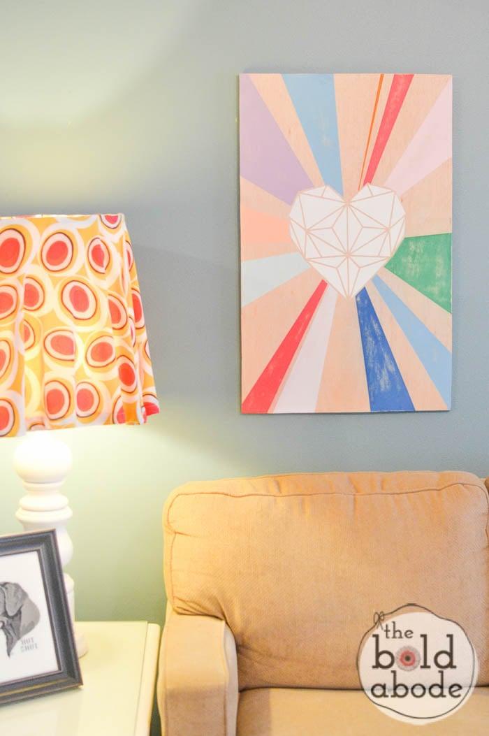 geometric heart wall art-12