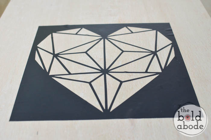 Geometric Wall Art geometric heart wall art