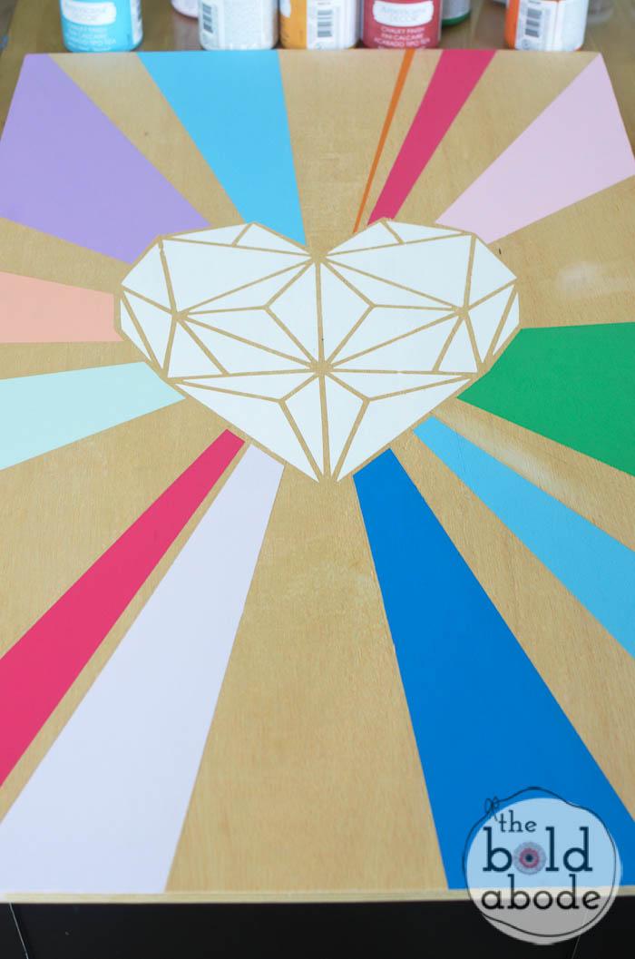 geometric heart wall art-8