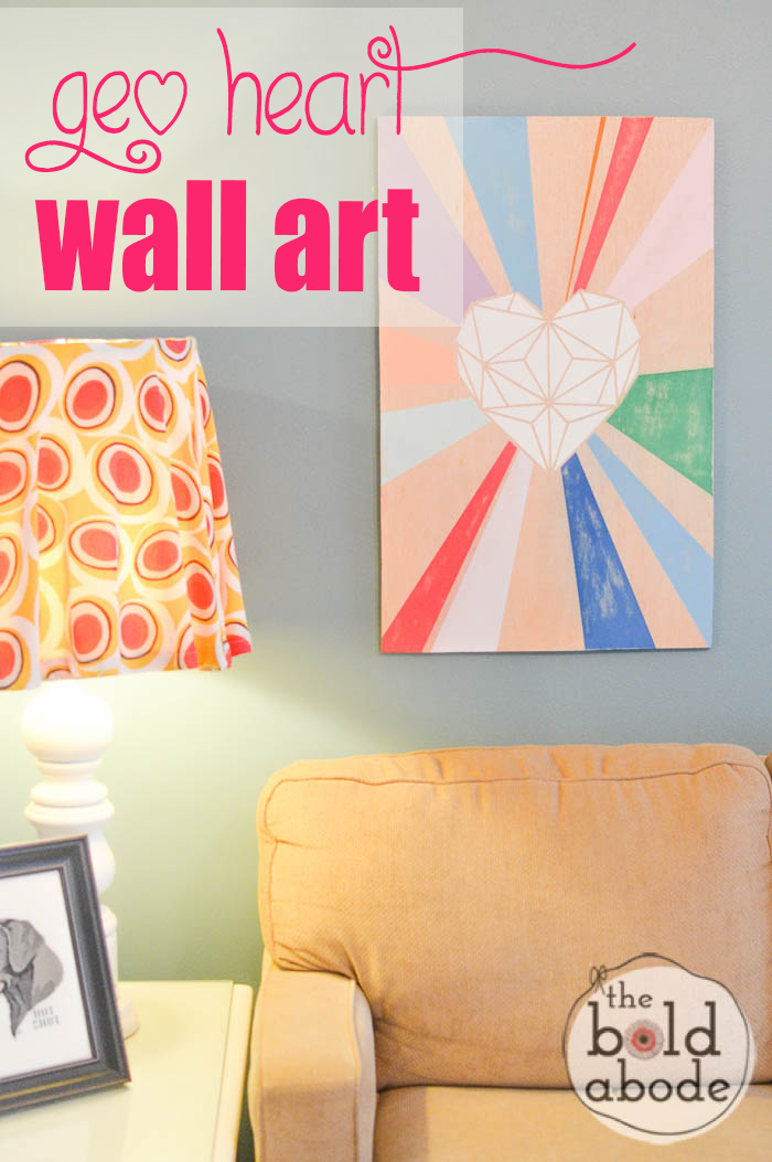 Super Cute Geometric Heart Wall Art with Americana Chalky Finish paint!