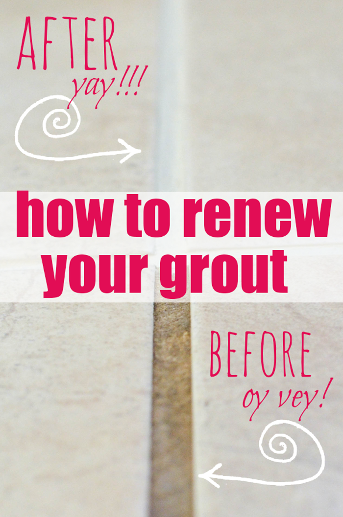 How to Renew Grout... even if it's totally disgusto!!!