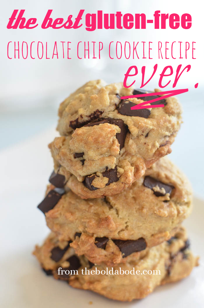 3 delicious looking gluten free chocolate chip cookies