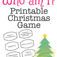Printable Christmas Game: Who Am I?