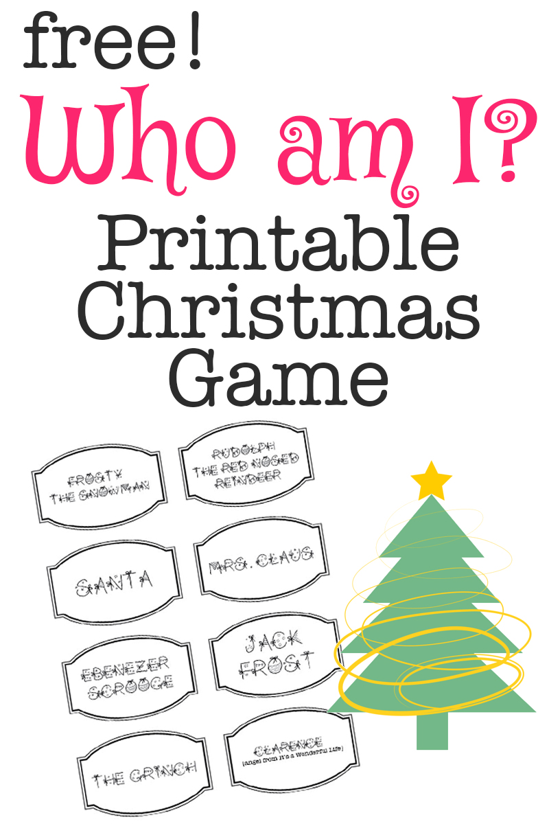 Free Printable Christmas Game: Who am i?