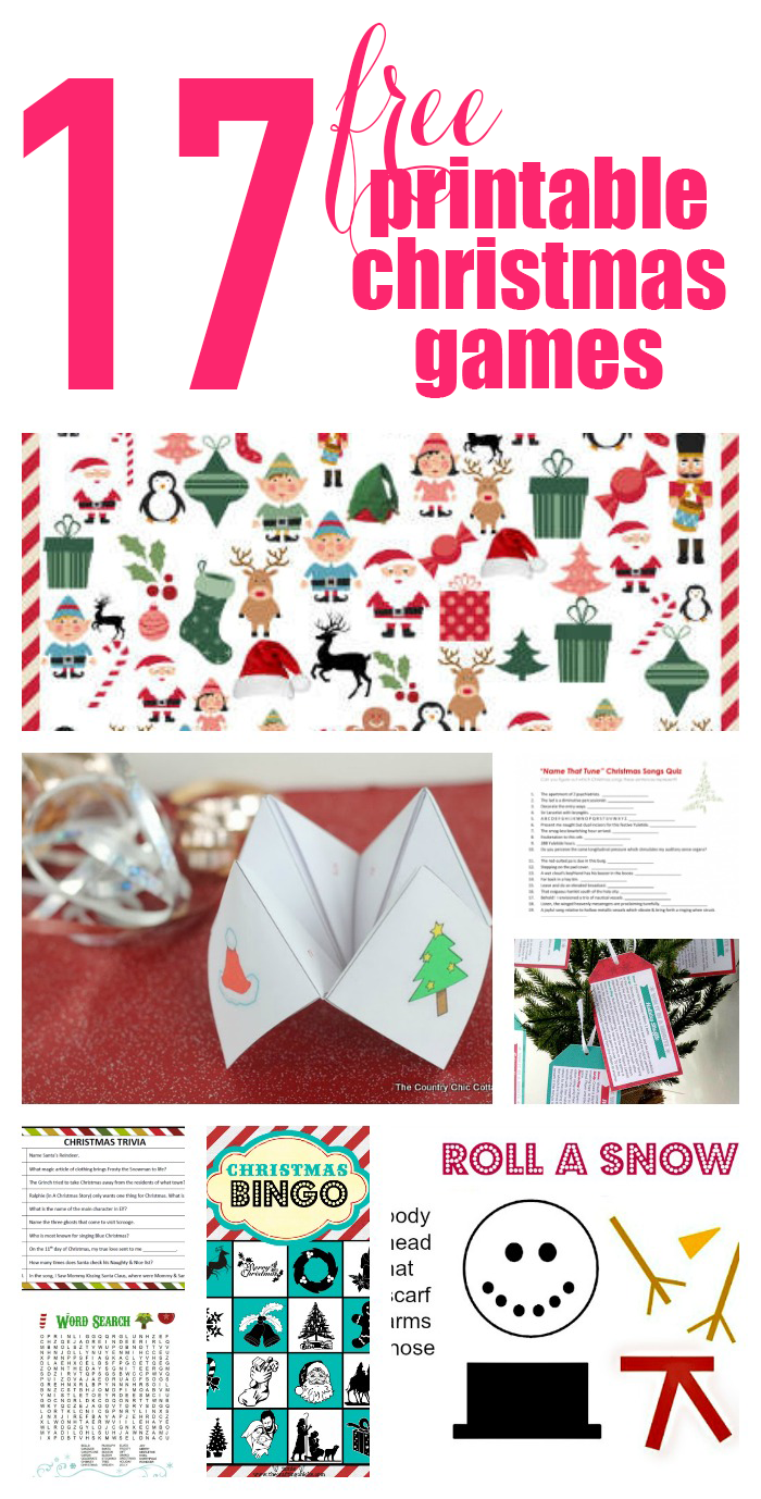 picture regarding Printable Christmas Games for Adults called 17 Cost-free Printable Xmas Video games