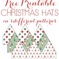 Printable Christmas Hats