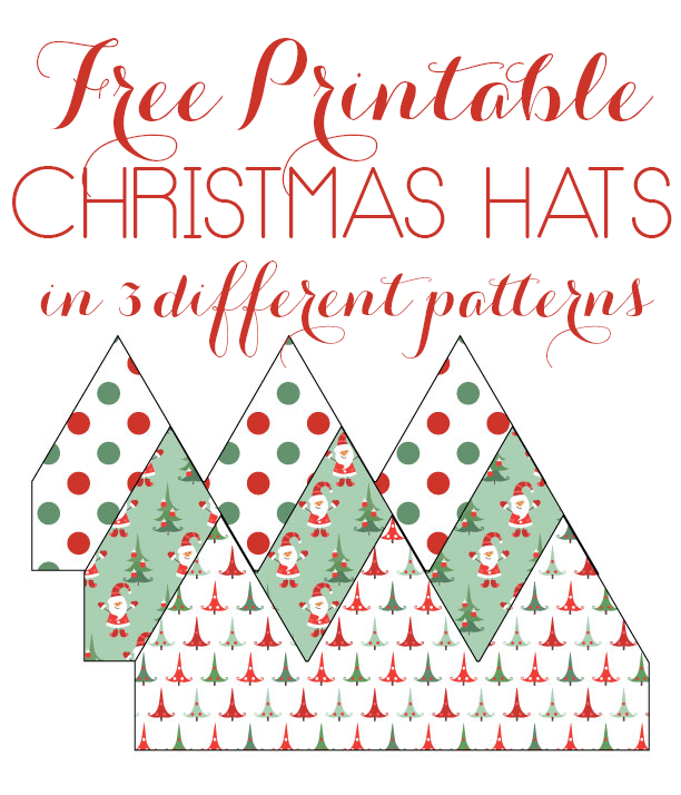 graphic regarding Santa Hat Printable titled Printable Xmas Hats