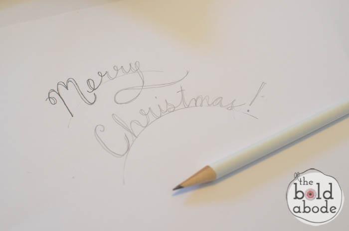 glitter tree christmas tags
