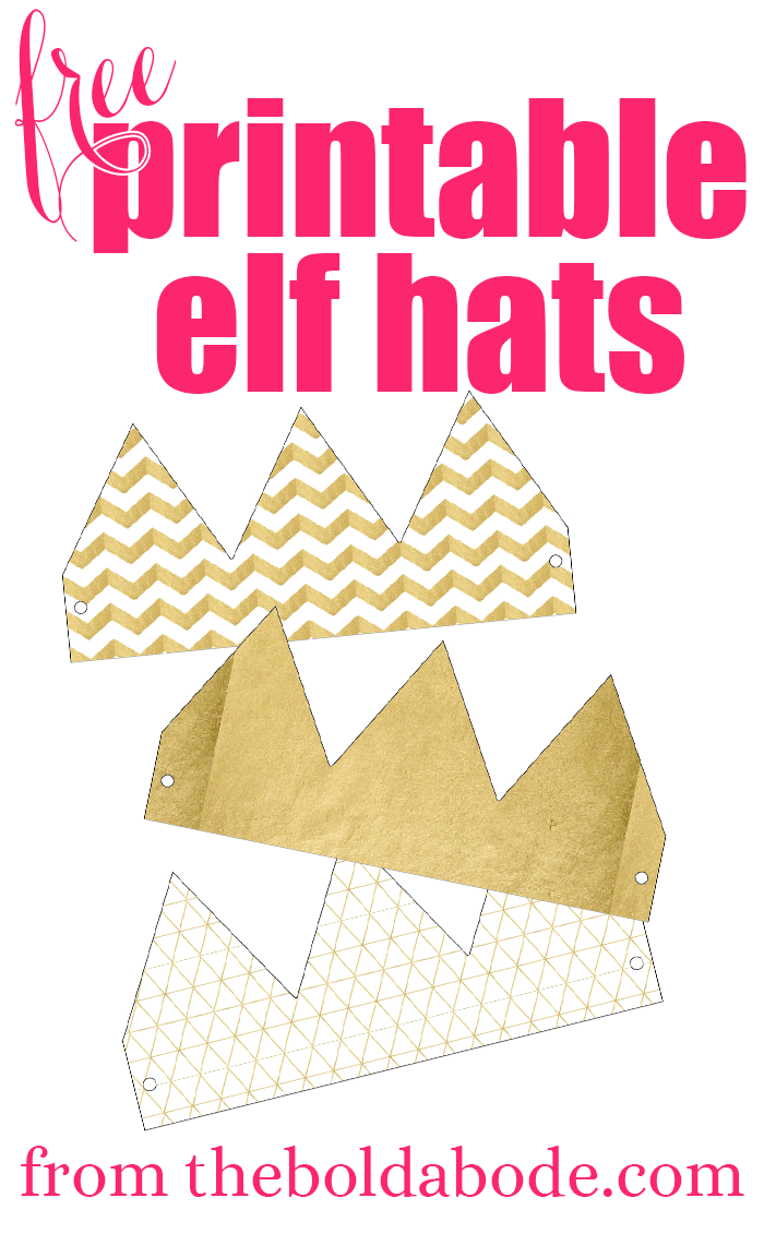 Get your free printable elf hats and add some whimsy to your Christmas fun!