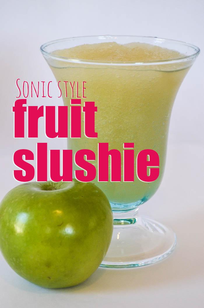 Need a slushie fix?  Learn the secret to a Sonic Style fruit slushie!