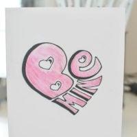 Be Mine Hand Lettered Printable Valentine's Card