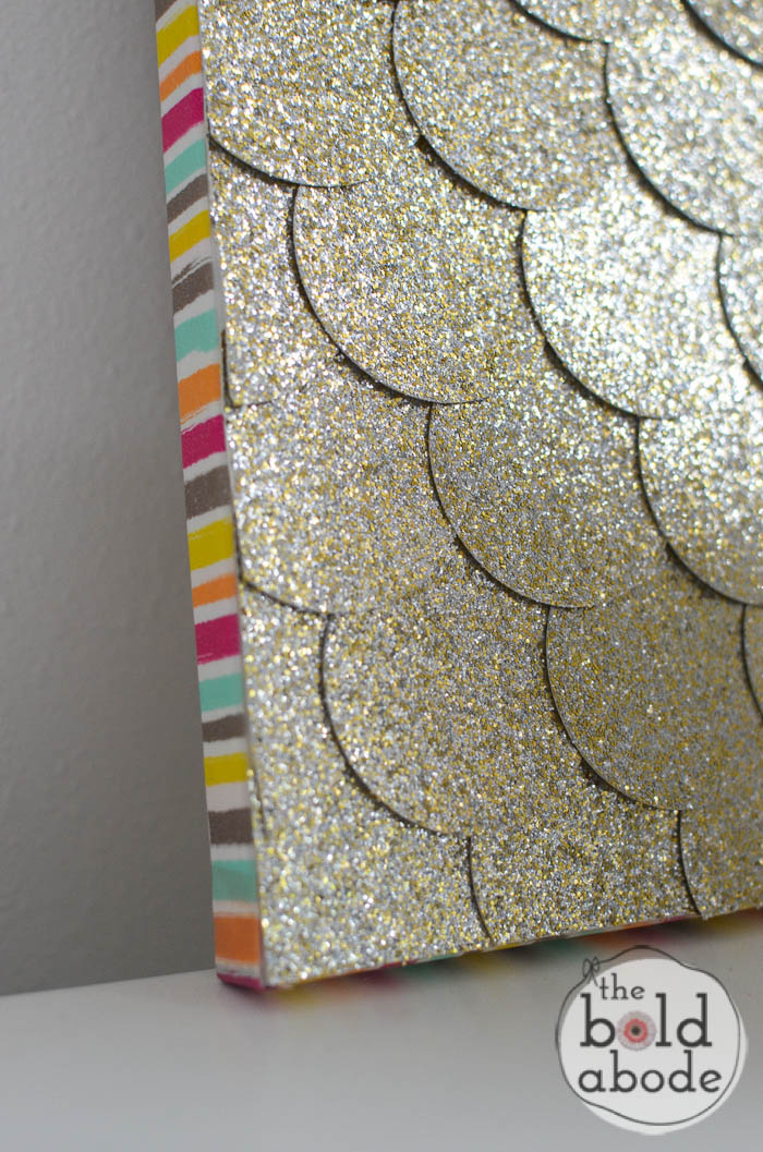 glitter dot wall art-2