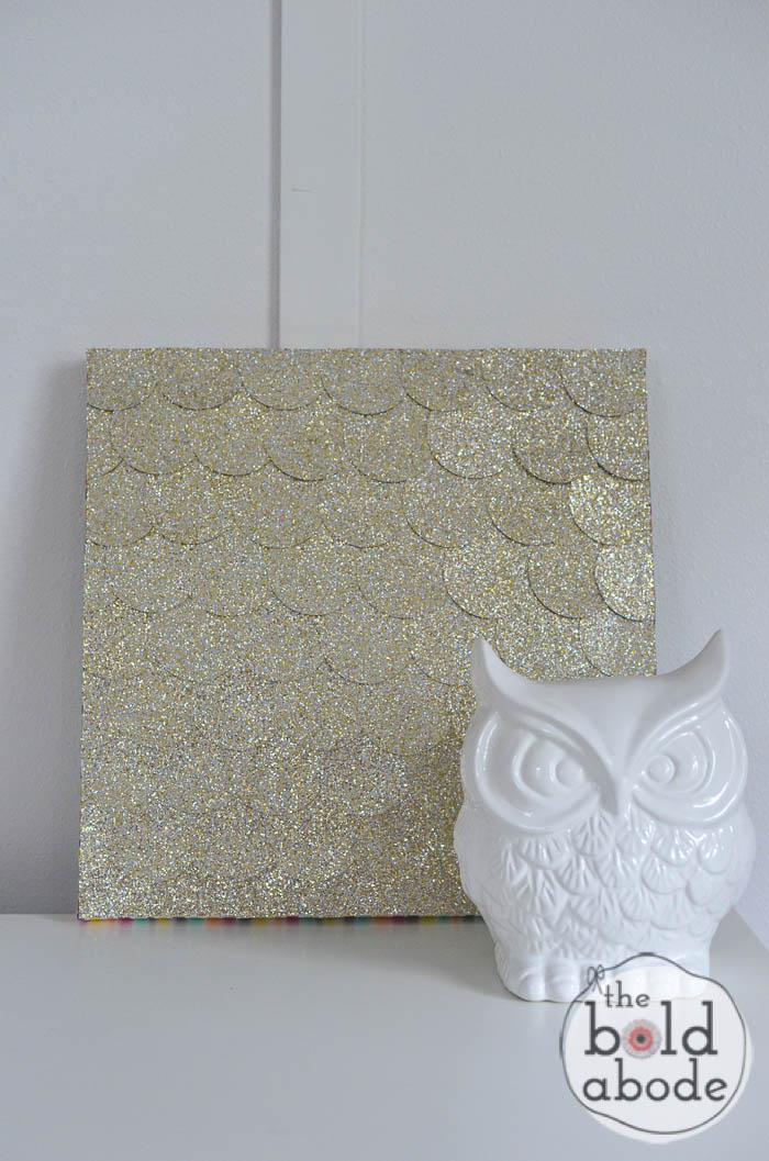 glitter dot wall art-3