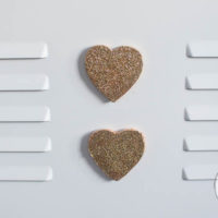 Glitter Heart Magnets