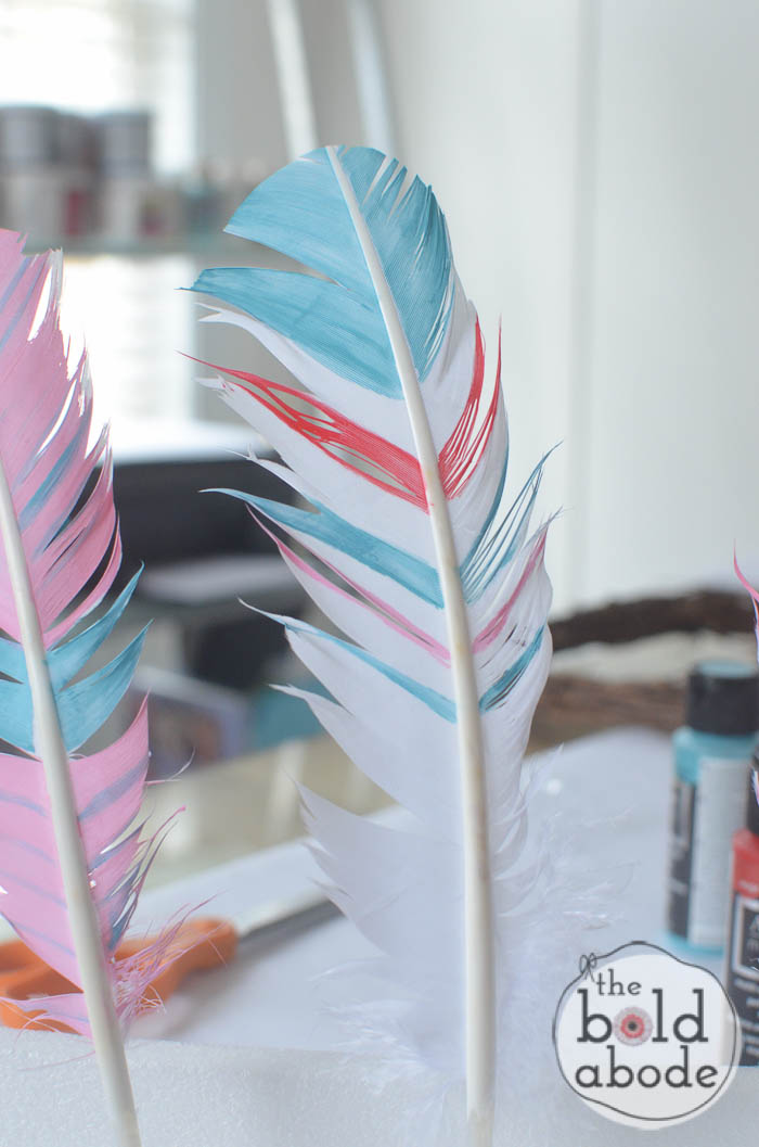 Heart Wreath Dream Catcher With Diy Painted Feathers