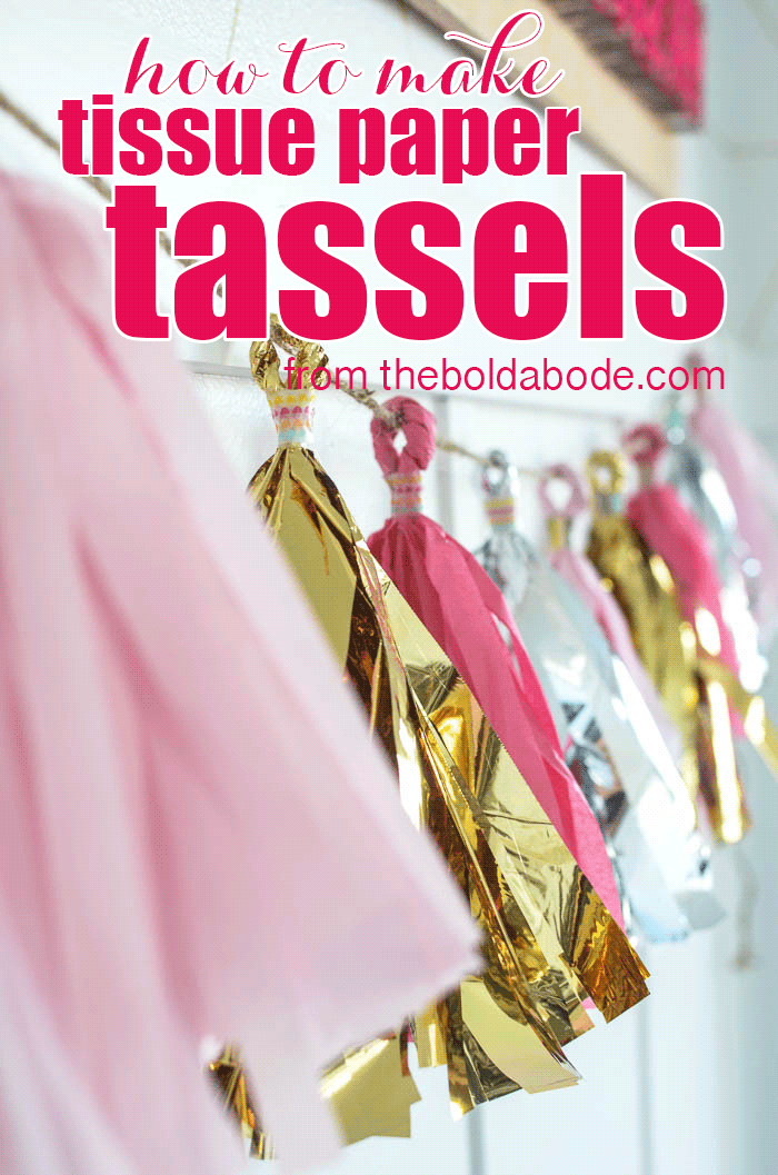 How to Make Tissue Paper Tassels with theboldabode.com