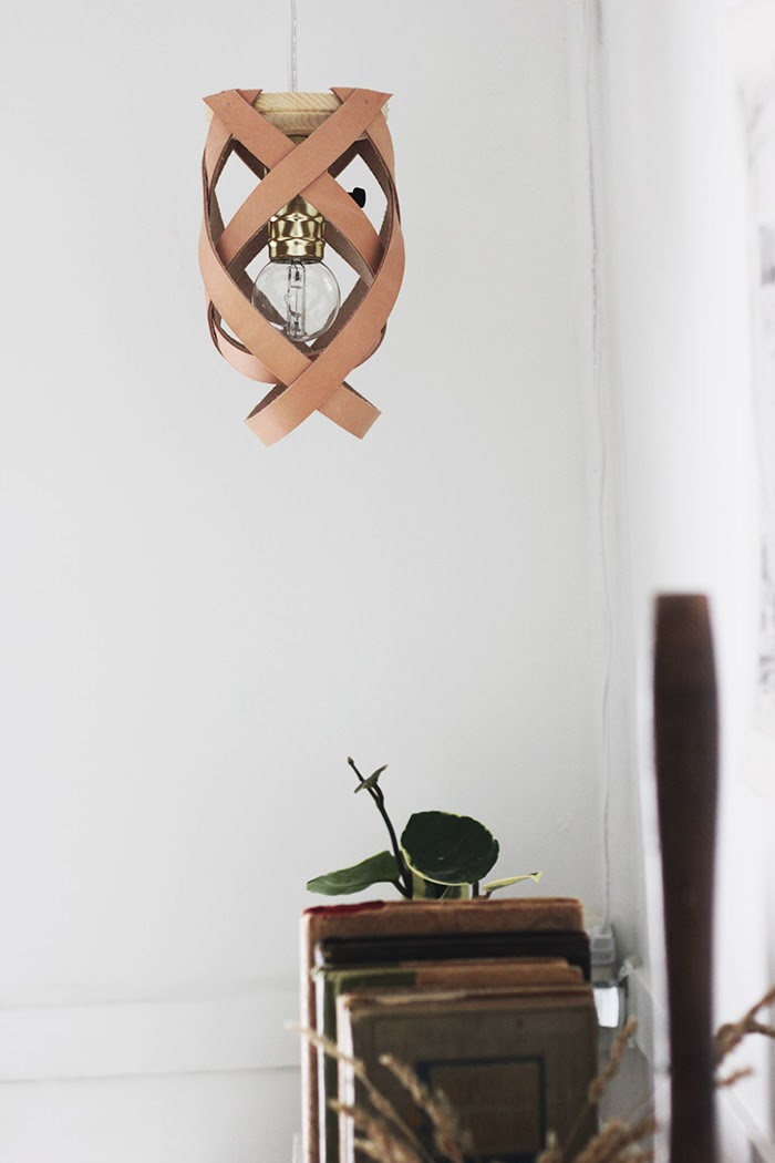 DIY leather Chandelier
