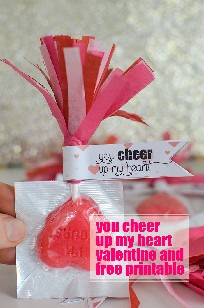 You Cheer Up My Heart Valentine and free printable from theboldabode.com