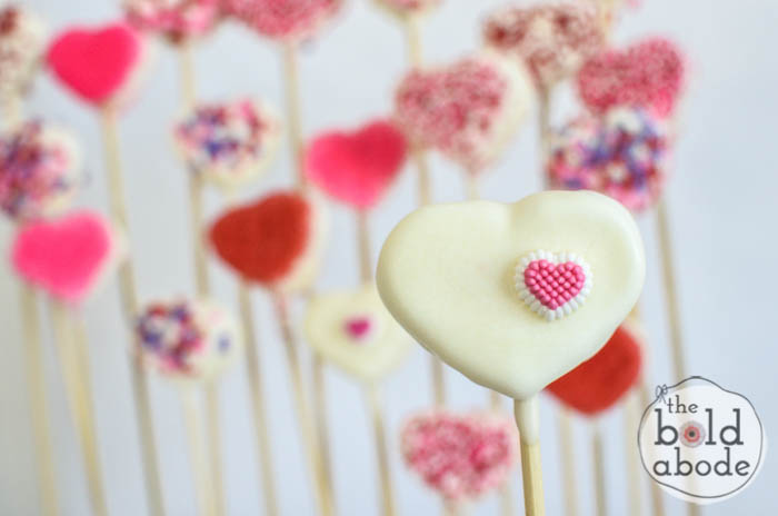 chocolate covered marshmallow heart garden-13