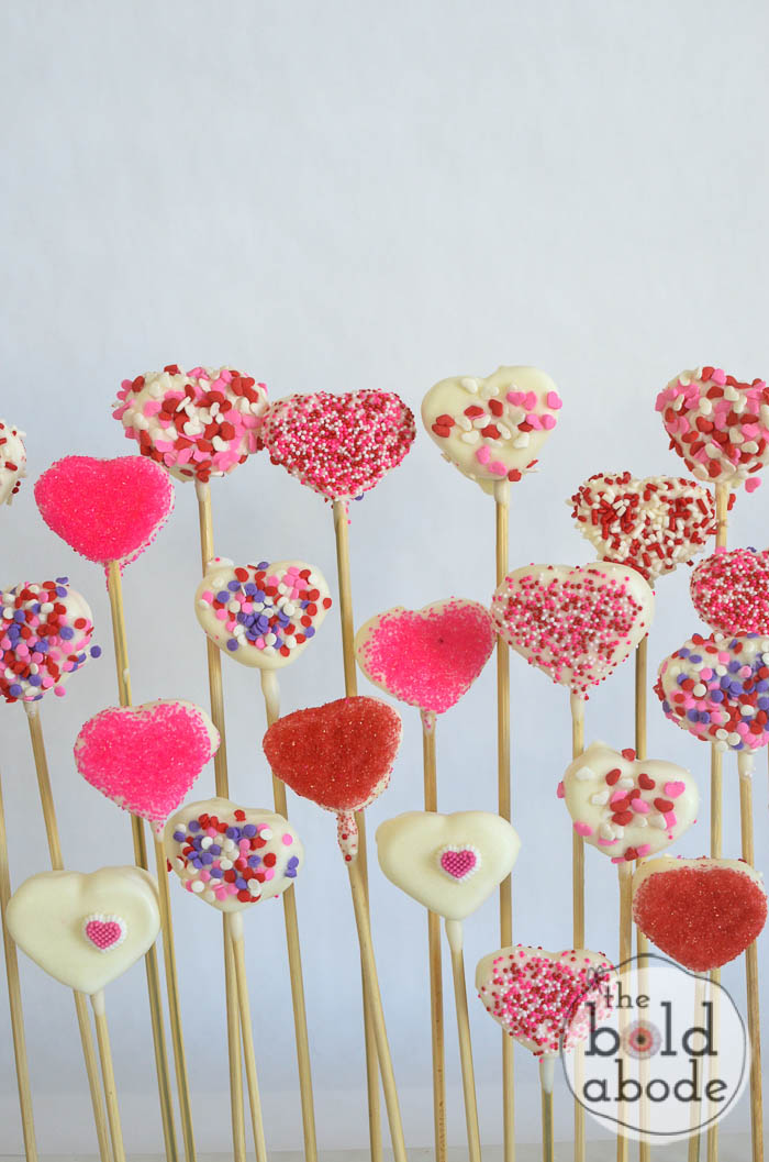 chocolate covered marshmallow heart garden-3