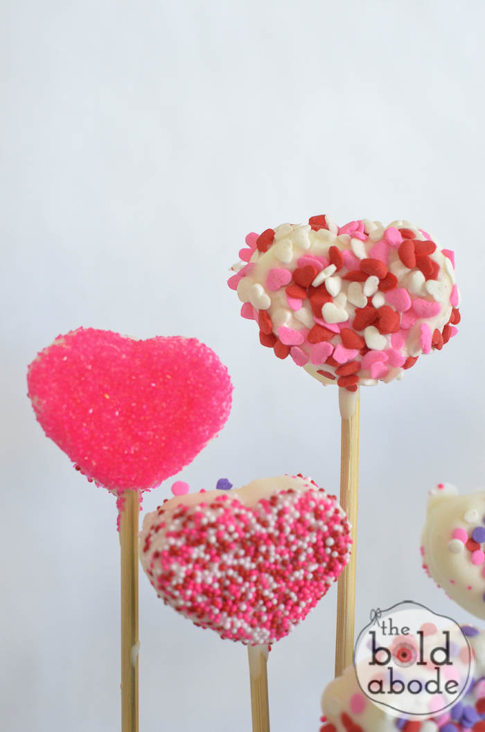 chocolate covered marshmallow heart garden-4