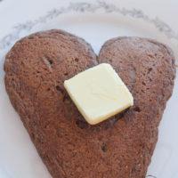 Chocolate Cake Heart Pancakes