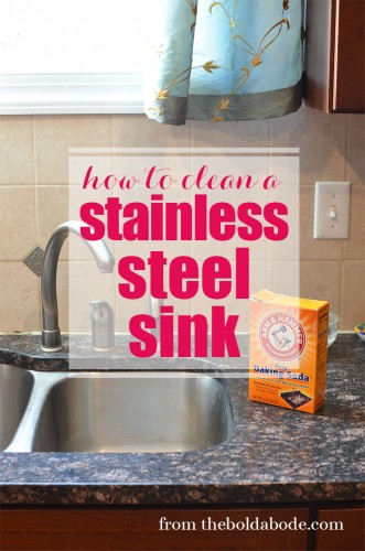 How to Clean a Stainless Steel Sink from theboldabode.com