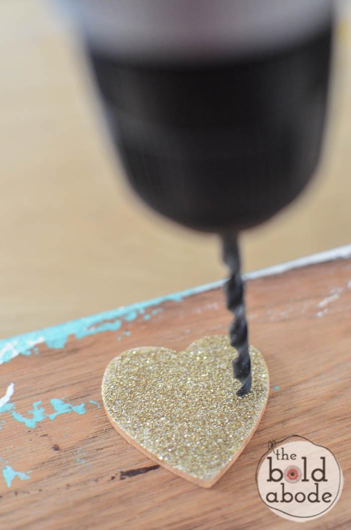 glitter heart leather bracelet-2