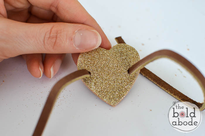 glitter heart leather bracelet-4