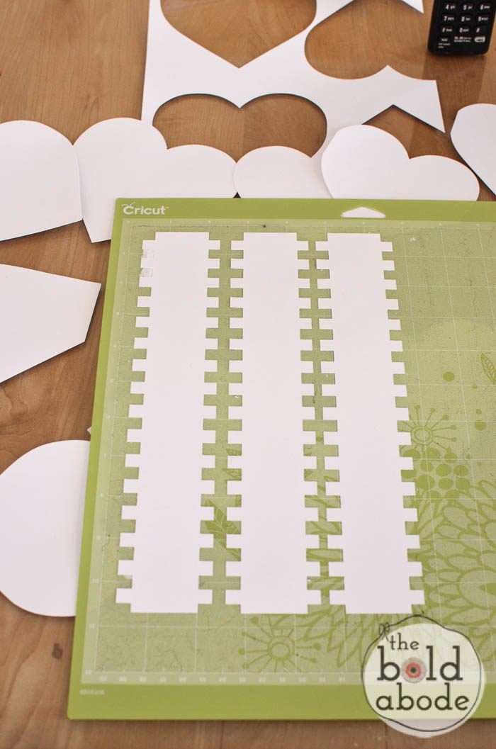 Cut out the strips with the cricut
