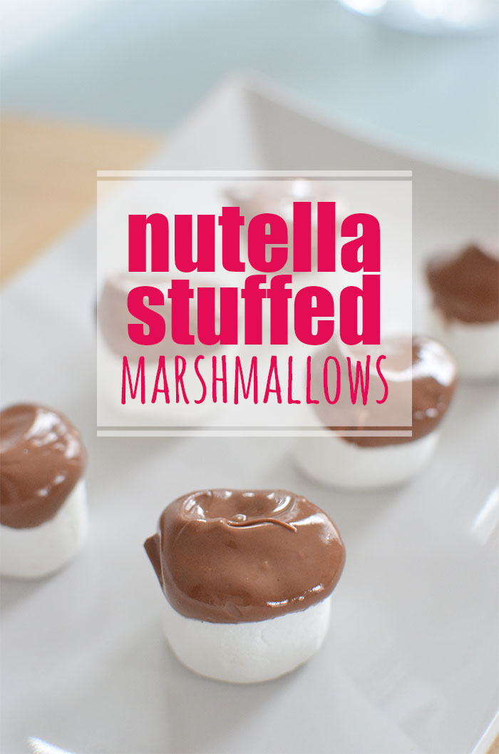 These nutella stuffed marshmallows are to die for!  The trick is to make them faster than they can be eaten... and that is definitely a challenge.
