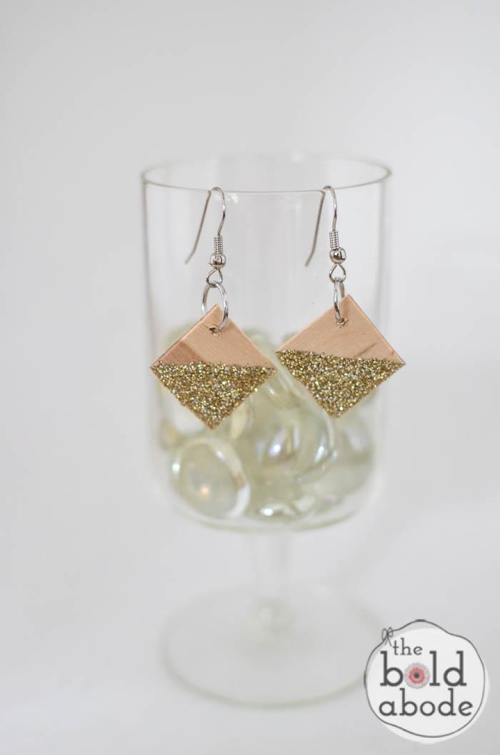popsicle stick glitter earrings-10