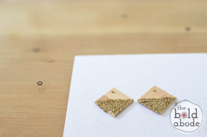 popsicle stick glitter earrings-8