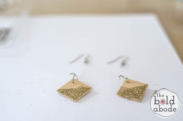 popsicle stick glitter earrings-9