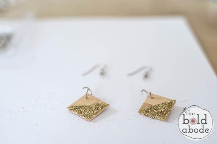 popsicle stick glitter earrings-9
