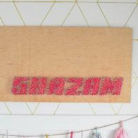 Shazam DIY String Art and Video Tutorial