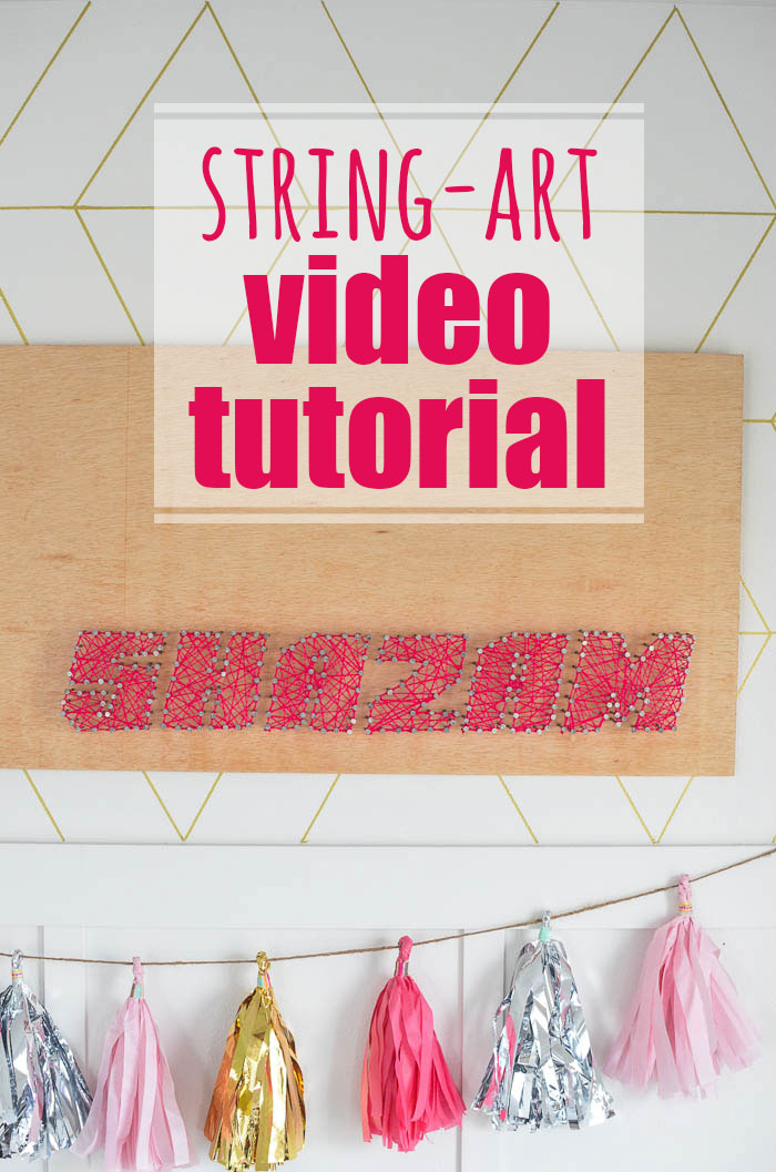 See how to make this SHAZAM DIY String art in this video from thebodlabode.com.