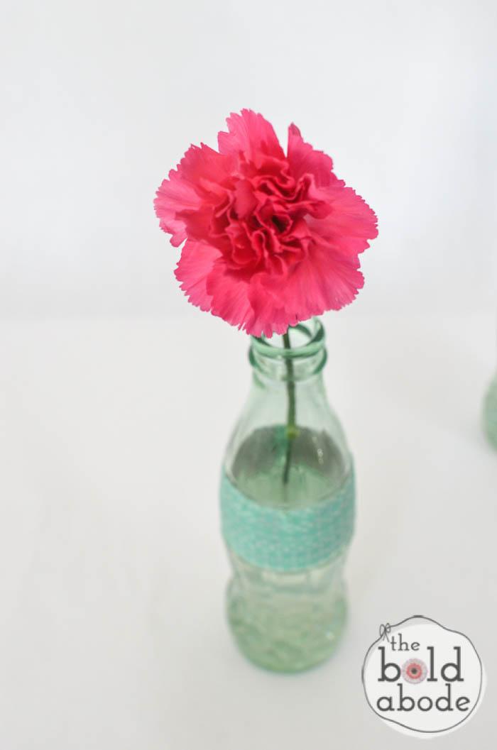 simple bud vase from a glass coke bottle-10
