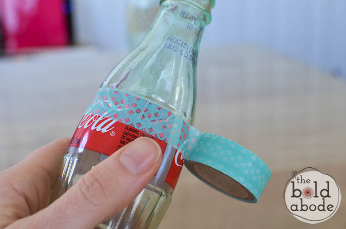 simple bud vase from a glass coke bottle-2