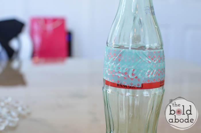 simple bud vase from a glass coke bottle-3