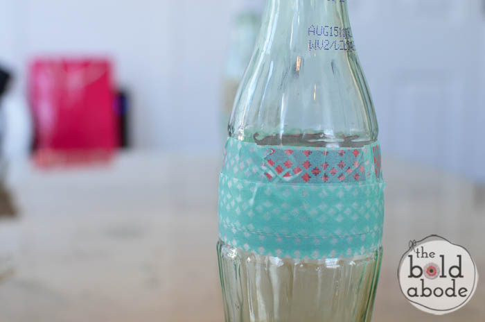 simple bud vase from a glass coke bottle-4