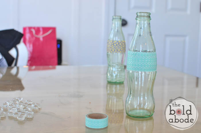 simple bud vase from a glass coke bottle-5