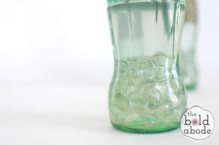 simple bud vase from a glass coke bottle-8