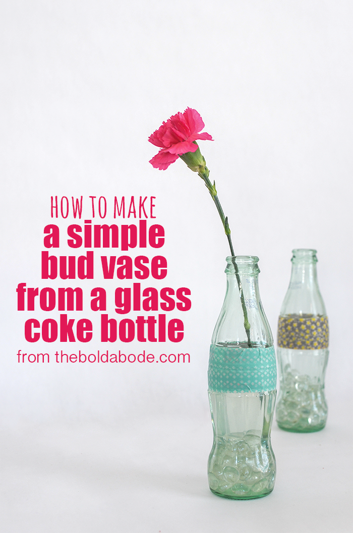 How sweet is this Washi Tape Coke Bottle Bud Vase?  And super easy to make!!!  from theboldabode.com
