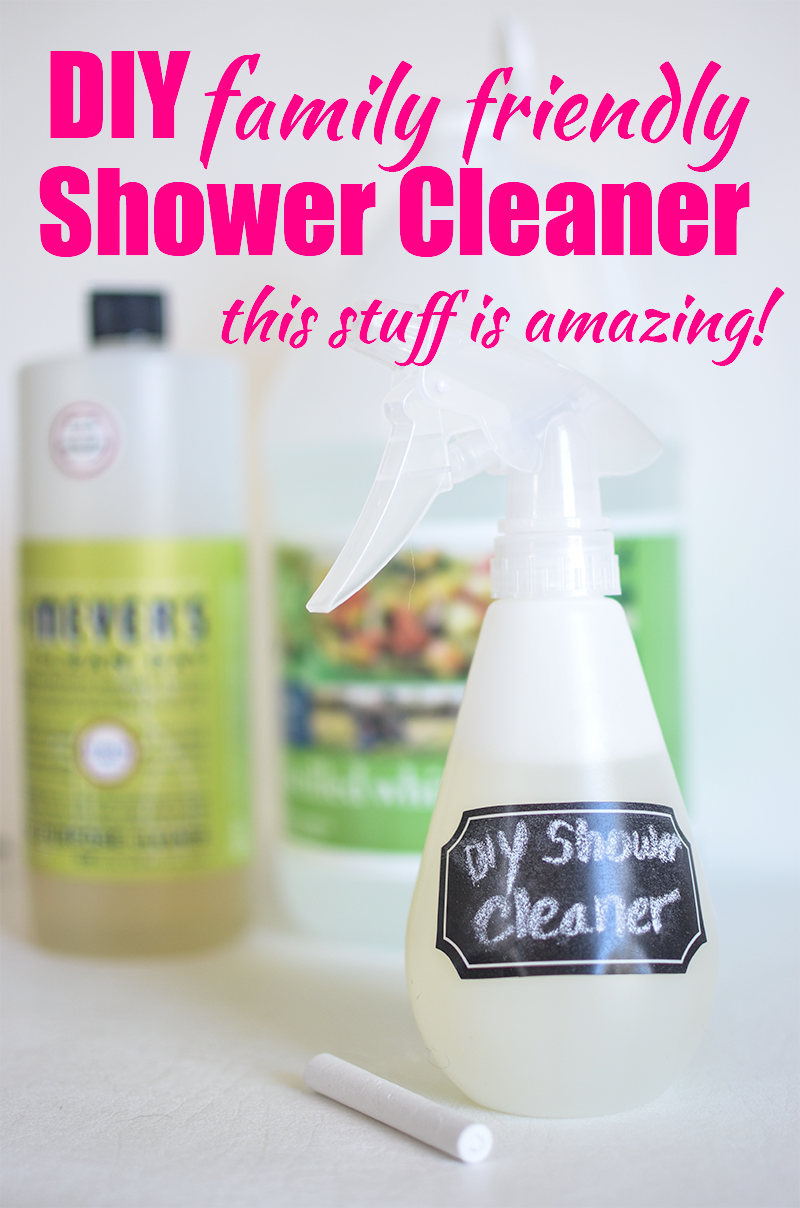 DIY Shower Cleaner: I can't believe it. I finally found something to clean the nasty scale off my shower! Y'all. I've tried everything. All those nasty, stinky cleaners? Nothing worked. Leave it to the good, family friendly stuff to do the trick, amiright?