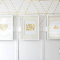 Gold Foil Printables Triptic